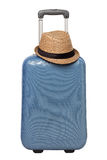 Travel suitcase. With hat isolated on white background Stock Images
