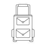 Travel suitcase icon Stock Photos