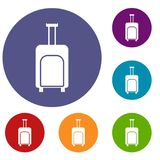 Travel suitcase icons set Stock Photo