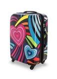 Travel suitcase isolated on white background Stock Images