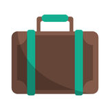 Travel suitcase modern style eqipment Royalty Free Stock Images