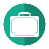 Travel suitcase modern style eqipment shadow Royalty Free Stock Photo