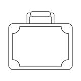 Travel suitcase modern style equipment thin line Royalty Free Stock Photo