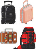 Travel Suitcase and Mountain Bag Royalty Free Stock Photo