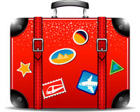 Travel suitcase. Over white. EPS 10 Royalty Free Stock Photography