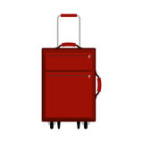 Travel suitcase red with extension handle Royalty Free Stock Images