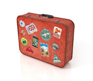 Travel Suitcase with stickers. Stock Images