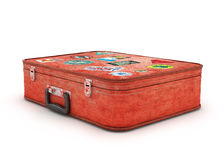 Travel Suitcase with stickers. Royalty Free Stock Image
