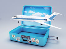 Travel suitcase. vacation concept 3d Royalty Free Stock Image