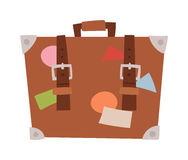 Travel suitcase vector illustration. Royalty Free Stock Photo