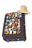 Travel Suitcase. On white background stock photography