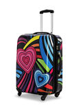Travel suitcase  on white background Stock Photos