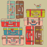 Travel suitcases. Seamless pattern vector Royalty Free Stock Image