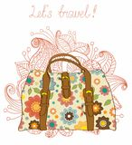 Travel Suitcases Background Royalty Free Stock Photos