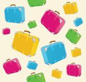 Travel suitcases background Royalty Free Stock Images