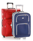 Travel suitcases isolated on white. Two travel suitcases isolated on white background Stock Photography