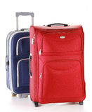 Travel suitcases isolated on white. Two travel suitcases isolated on white Stock Images