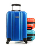 Travel suitcases isolated on white background Royalty Free Stock Photo