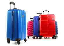 Travel suitcases isolated on white background Stock Photography