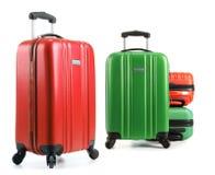 Travel suitcases isolated on white background Royalty Free Stock Image