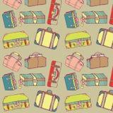 Travel suitcases seamless stock illustration