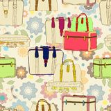 Travel suitcases seamless Stock Photography