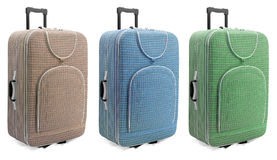 Travel suitcases set - Stock Photography