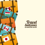 Travel suitcases Stock Images