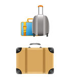 Travel Suitcases Vector Illustration. Set Royalty Free Stock Images