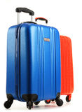 Travel suitcases on white background Royalty Free Stock Images