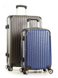 Travel suitcases on white background Royalty Free Stock Photography