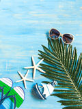 Travel summer beach and clothes summer, stock photos