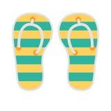 Travel summer flipflop illustration icon Stock Image