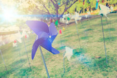 Travel summer holiday wind, Wind up toy. Travel summer holiday wind, Wind up toy decoration in the garden public park Royalty Free Stock Photo