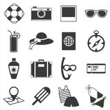 Travel and summer icon Stock Photography