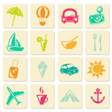 Travel summer icons Royalty Free Stock Photo