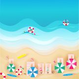 Travel this summer vacation with the sea and beautiful beaches. Visit this summer vacation with the sea and beautiful beaches with your family royalty free illustration