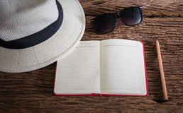 Travel, summer vacation, tourism and objects concept Royalty Free Stock Photo