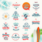 Travel and summer vacation type design Royalty Free Stock Photo