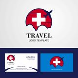 Travel Switzerland Flag Logo and Visiting Card Design. This Vector EPS 10 illustration is best for print media, web design, application design user interface vector illustration