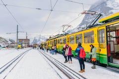 Travel switzerland in winter royalty free stock photo