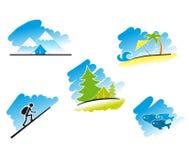 Travel symbols Stock Images