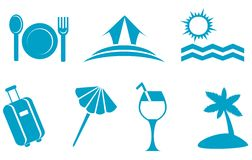 Travel symbols Royalty Free Stock Images