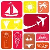 Travel symbols Royalty Free Stock Photography