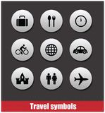 Travel symbols vector set Royalty Free Stock Image