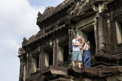 Travel take photo Angkor Wat in Cambodia is the largest religiou Royalty Free Stock Photography
