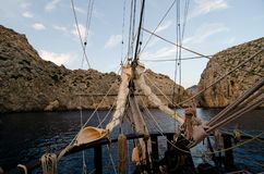 Travel on tall ship Stock Photos