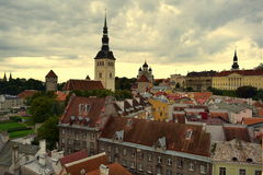 Travel in Tallinn. View of the historic centre of the old town stock photo