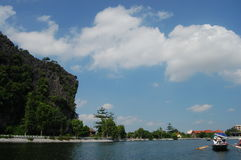 Travel Tam Coc at Hanoi Vietnam Royalty Free Stock Image