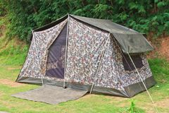 Travel Tent In The National Park Thailand Royalty Free Stock Image